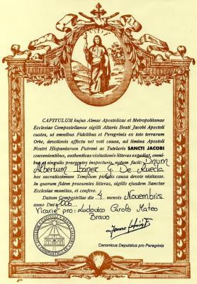 La Compostela y la Bendición al peregrino